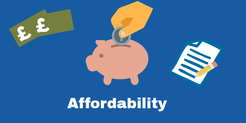 Mortgage affordability with a default
